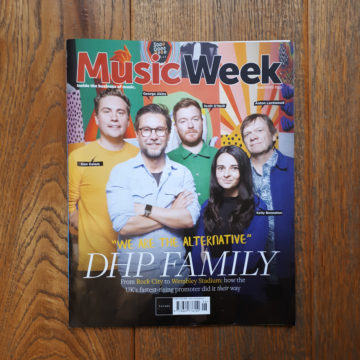 DHP Family on the front cover of Music Week Magazine